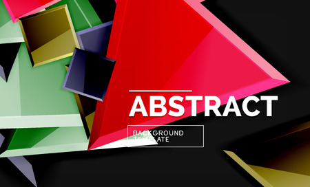 Glossy squares and triangles geometric backgrounds. Vector Banque d'images - 120436176