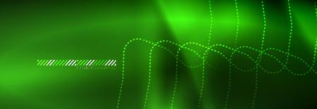 Shiny neon lights background, techno design, modern wallpaper for your project, vector illustration Vektorové ilustrace