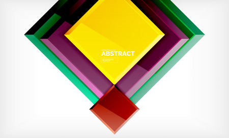 Geometric abstract background, modern square design. Vector Illustration