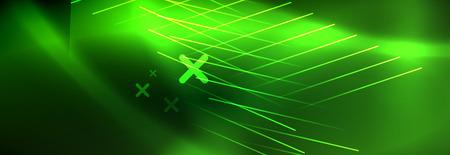 Abstract neon glowing light background. Dark background with lights. Abstract background with neon lights, night view.