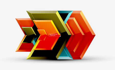 Techno arrow background, template design. Vector Ilustração