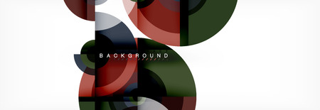 Round shapes vector abstract background. Trendy circle shapes composition vector