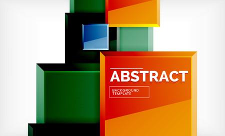 Geometric abstract background, modern square design. Vector Zdjęcie Seryjne - 120700109