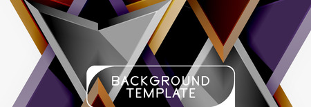 Arrows and triangles geometric design template for banner, background or logo