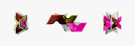 Modern geometric shapes abstract background or logo element. Dynamic color design