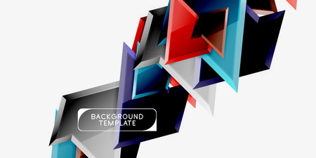 Minimal geometrical triangles with 3d effect abstract background template Фото со стока - 120807225