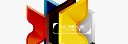 Techno geometric shapes abstract banner design Фото со стока - 120808881