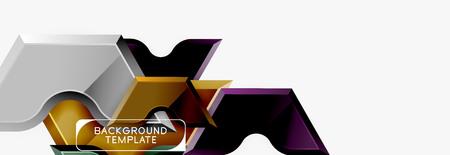 Techno geometric shapes abstract banner design Иллюстрация