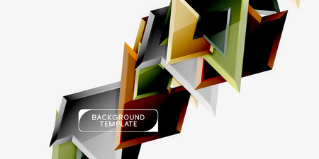 Triangular low poly background design, multicolored triangles. Vector Фото со стока - 120880602