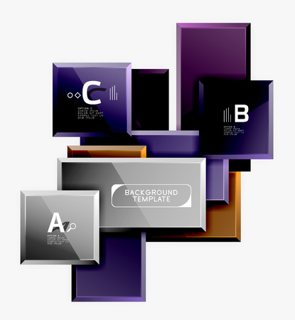 Abstract square composition for background, banner or logo