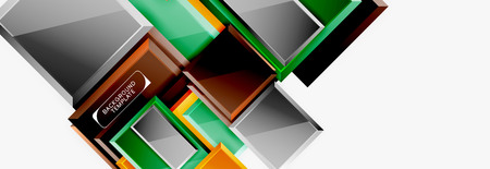 Square geometric composition, vector blocks background
