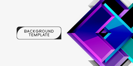 Glossy modern geometric background, abstract arrows composition
