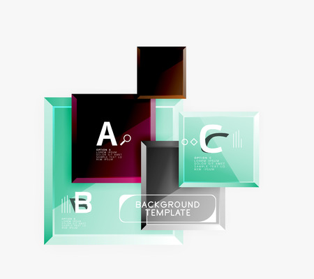 Abstract square composition for background, banner. Vector