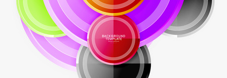 Circle geometric abstract background template for web banner, business presentation, branding, wallpaper. Vector design