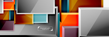 Abstract square composition for background, banner