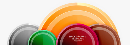Circle geometric abstract background template for web banner, business presentation, branding, wallpaper 免版税图像