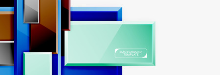 Minimal square banner abstract background Imagens