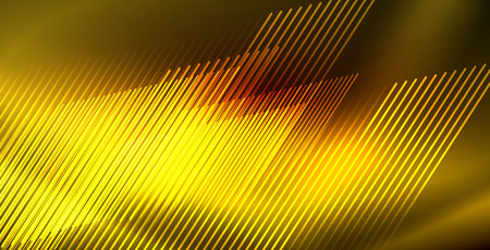 Neon glowing wave, magic energy and light motion background. Vector wallpaper template Ilustrace