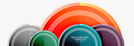 Circular pattern, abstract circles composition. Vector design Vettoriali