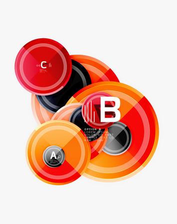 Circular pattern, abstract circles composition. Vector design Ilustrace