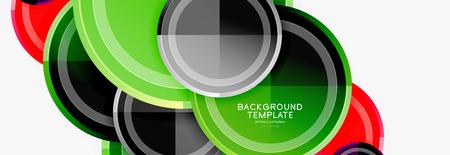 Circular pattern, abstract circles composition. Vector design  イラスト・ベクター素材