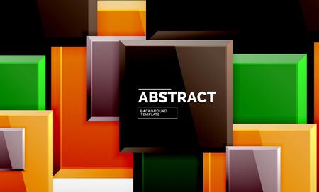 Square geometric background, vector modern template Foto de archivo - 123151638