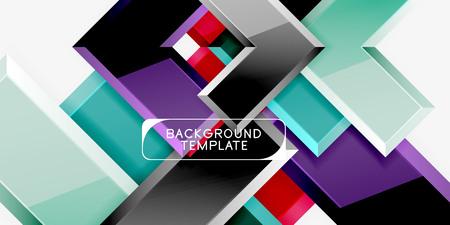 Glossy arrows geometric background