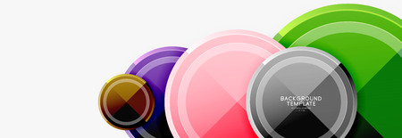 Circular pattern, abstract circles composition