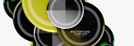 Circular pattern, abstract circles composition. Vector design Ilustrace