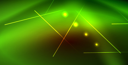 Neon glowing wave, magic energy and light motion background. Vector wallpaper template Illustration