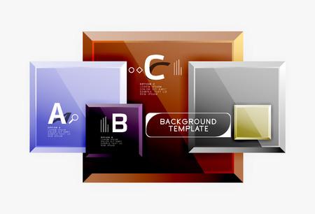 Square geometric composition