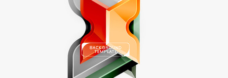 Geometric banner made of glossy geometric shapes, for background or abstract element Ilustrace
