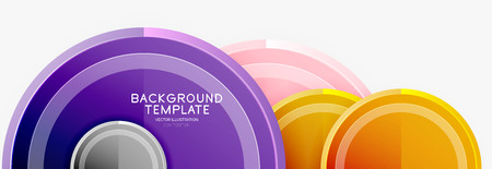 Circular pattern, abstract circles composition. Vector design Vectores