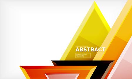Tech futuristische geometrische 3D-vormen, minimale abstracte achtergrond Vector Illustratie