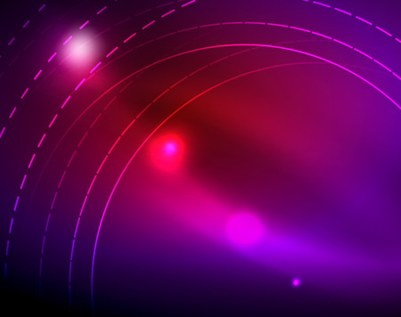 Neon circles abstract background, vector template  イラスト・ベクター素材