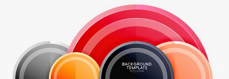 Circular pattern, abstract circles composition. Vector design Reklamní fotografie