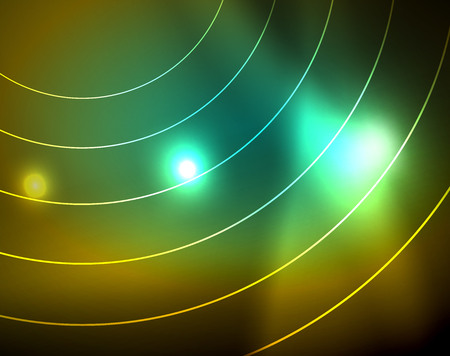 Shiny circles glowing abstract background