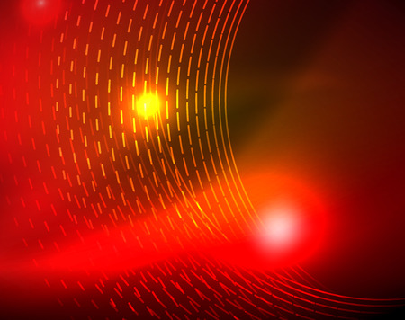 Shiny circles glowing abstract background. Vector illustration Stock Illustratie