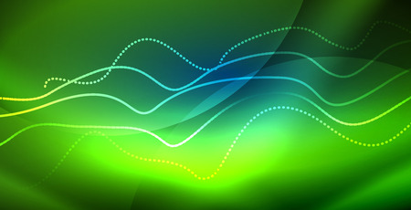 Neon wave abstract background
