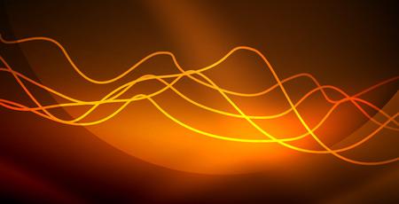 Sfondo astratto onda al neon