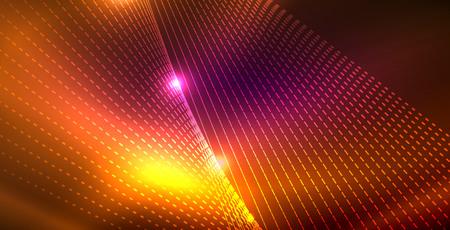 Shiny neon space background  イラスト・ベクター素材