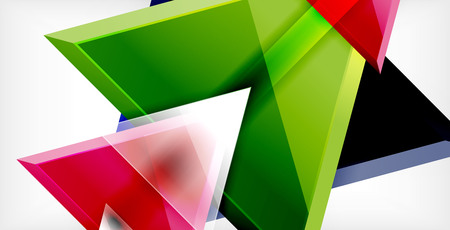 Triangle abstract background Vectores