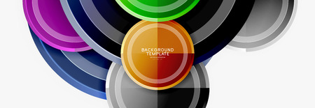 Colorful glossy circles background. Vector