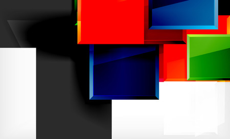Colorful square and rectangle blocks background