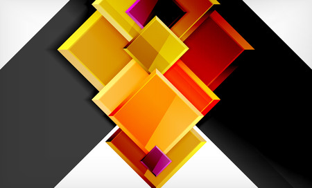 Colorful square and rectangle blocks background, vector geometric abstract design Banque d'images - 122841532