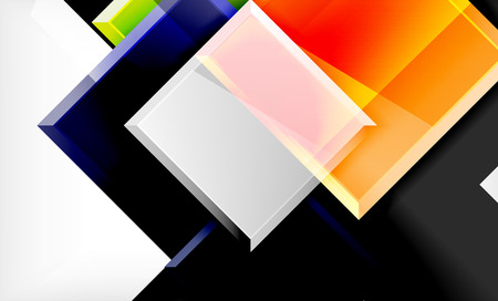 Color squares futuristic abstract background, vector futuristic blocks colorful design Banque d'images - 122843298
