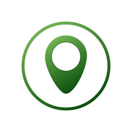 Pin Location Direction Position Graphic pin flat design style modern icon, pointer minimal vector symbol, marker sign.