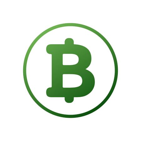 Bitcoin cryptocurrency round symbol vector icon for apps and websites. Bitcoin money icon illustration on light background.