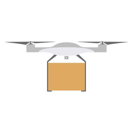 Delivery icon quadrocopter. flat vector illustration isolate on a white background. 向量圖像