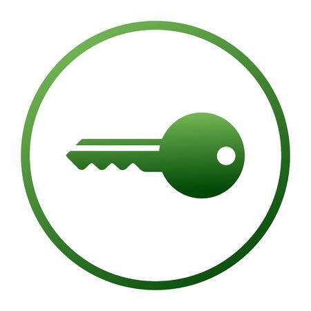 Key icon set. Vector logo design element on white background. Real estate, key, house, Illustration